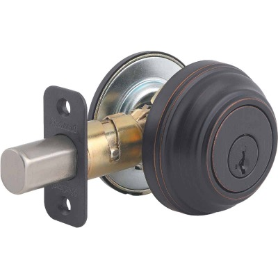Kwikset Signature Series Venetian Bronze Single Cylinder Deadbolt