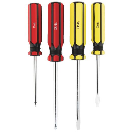 Do it Slotted & Phillips Screwdriver Set (4-Piece)