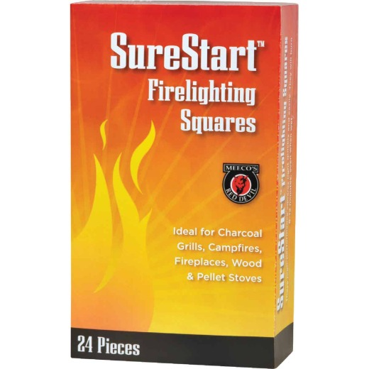 Meeco's Red Devil SureStart Fire Starter Squares (24-Pack)