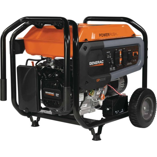 Generac 8000W Gasoline Powered Electric/Recoil Pull Start Portable Generator CARB Compliant