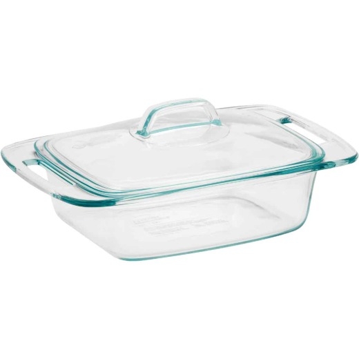 Pyrex Easy Grab 2 Quart Casserole Dish with Glass Cover
