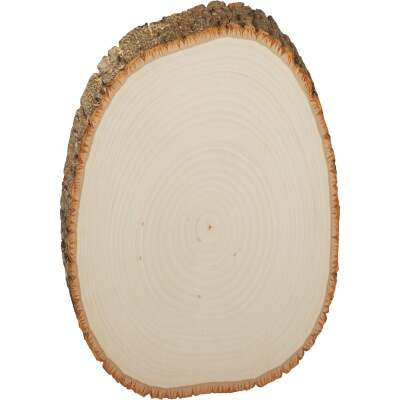Walnut Hollow Basswood Country Rounds 7 to 9 In. Oval Live Edge Circle Plank
